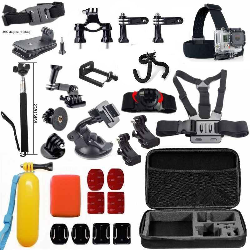 Teckam pour SJCAM sj4000 ensemble d'accessoires pour sjcam sj5000 plus sj5000x elite sj6 legend sj7 M10 Xiaomi yi 4 k Plus caméra d'action
