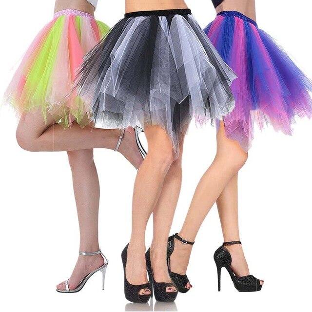 783622fcc3 Women's 1950s Vintage Petticoat Bubble Tutu Dance Skirt Adult Short Tulle  Skirt Crinolines Fluffy Underskirt