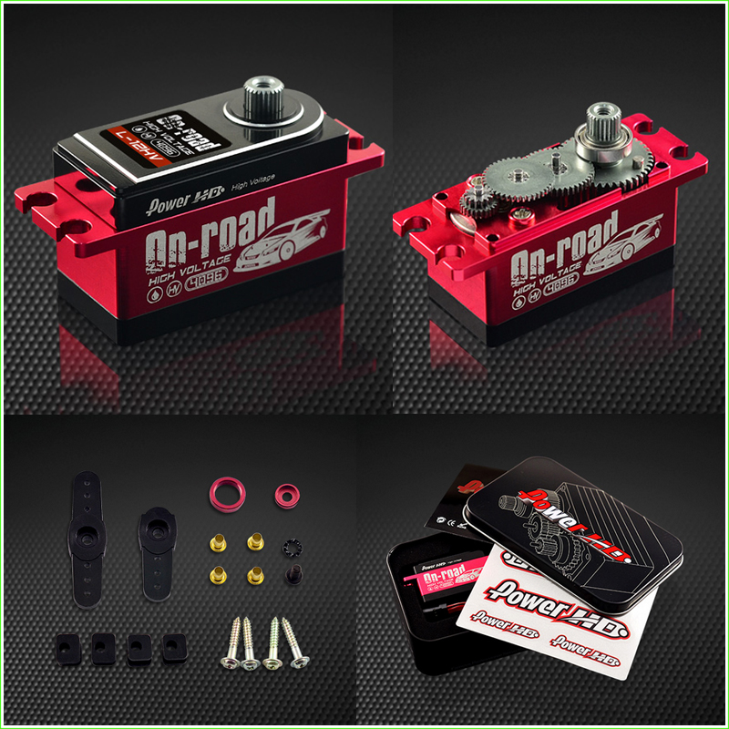 1set Power HD 12KG High Voltage Servo 1:10 Buggy Drift Touring RC Car On Road #L-12HV
