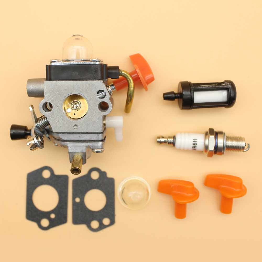 Trimmer Carburetor Knob Filter Kit Fit STIHL FS87 FS87R FS90 FS90R FS110 FS100 FS100R FS110 FS110R FS110X FS130 FS130R Strimmers mayirt gear box head for fs130 fs120 fs110 fs100 fs90 fs85 fs80 trimmer brushcutter lawn mover parts new