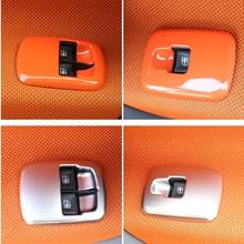 2 шт. автомобиля подлокотник двери и окна стекло переключатель панель украшения рамки для 2018 Новый smart fortwo 453 автомобильные аксессуары модификации
