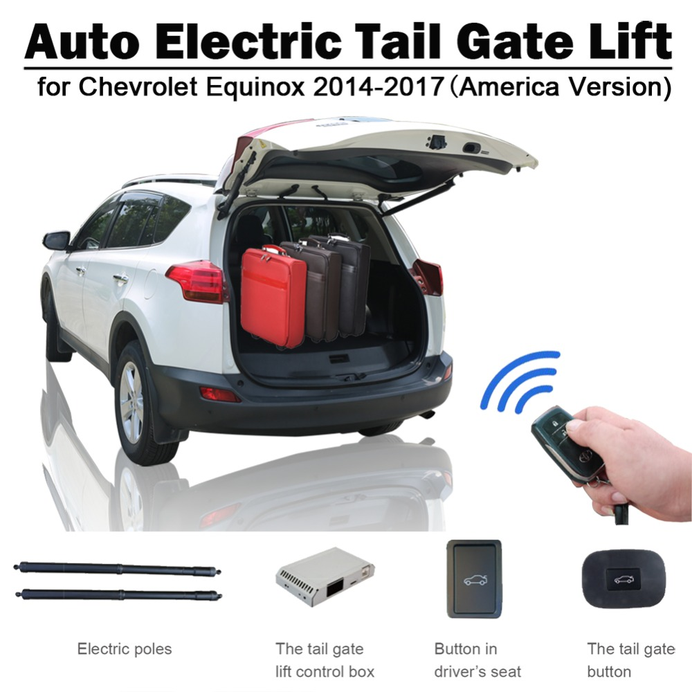 Electric Tail Gate Lift For Chevrolet Equinox America Version Remote Control Drive Seat Button Control Set Height Avoid Pinch