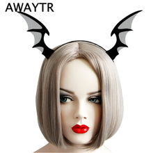 New Arrival Black Pokemon Evil Horn Headbands Halloween Bat Fairy Hairbands Men Woman Cosplay Party Girls Hair Accessories(China)