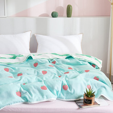 Simanfei Throw Blankets Soft Five-layer Thick Summer Air-conditioning Cotton Double Single Bed Sofa Towel Blanket