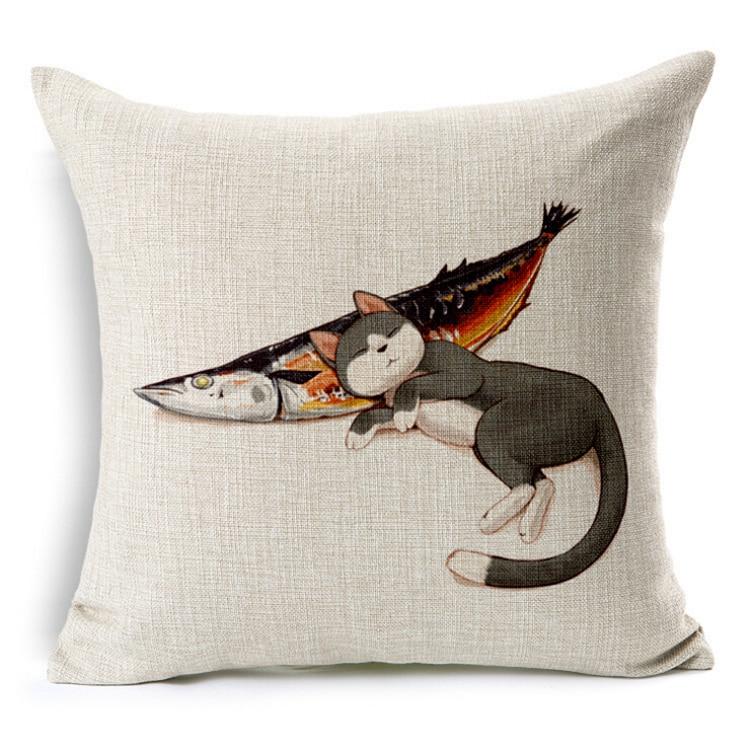 Cartoon Car Seat Cushion Without Core dog/cat animal Sofa Chair Cushions Cotton Decorative Pillows Throw Pillow Home Decor 45*45