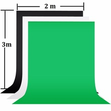 2x3m Photography Background Screen 100% Cotton Muslin Chroma Key Photographic Backdrop For Studio Photo Props Black Green White
