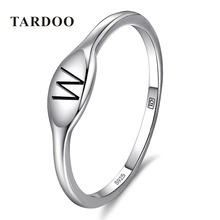 Tardoo Genuine 925 Sterling Silver W Characters Rings for Women Elegant Charming wholesale Ring Brand Fine Jewelry Free Shipping