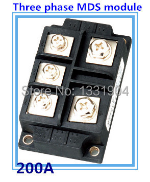 200A three phase Bridge Rectifier Module MDS 200 welding type used for input rectifying power supply and so on dfa100ba80 dfa75ba160 three phase thyristor bridge rectifier module 100a 1600v