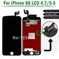 Para iphone 6 s 6 s plus lcd 4.7 ''. 5'' pantalla táctil digitalizador reemplazo del conjunto blanco, negro envío gratis