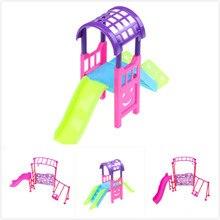 Girl Play House Doll Amusement Park Slide Swing Accessories Doll park swing garden swing amusement park equipment