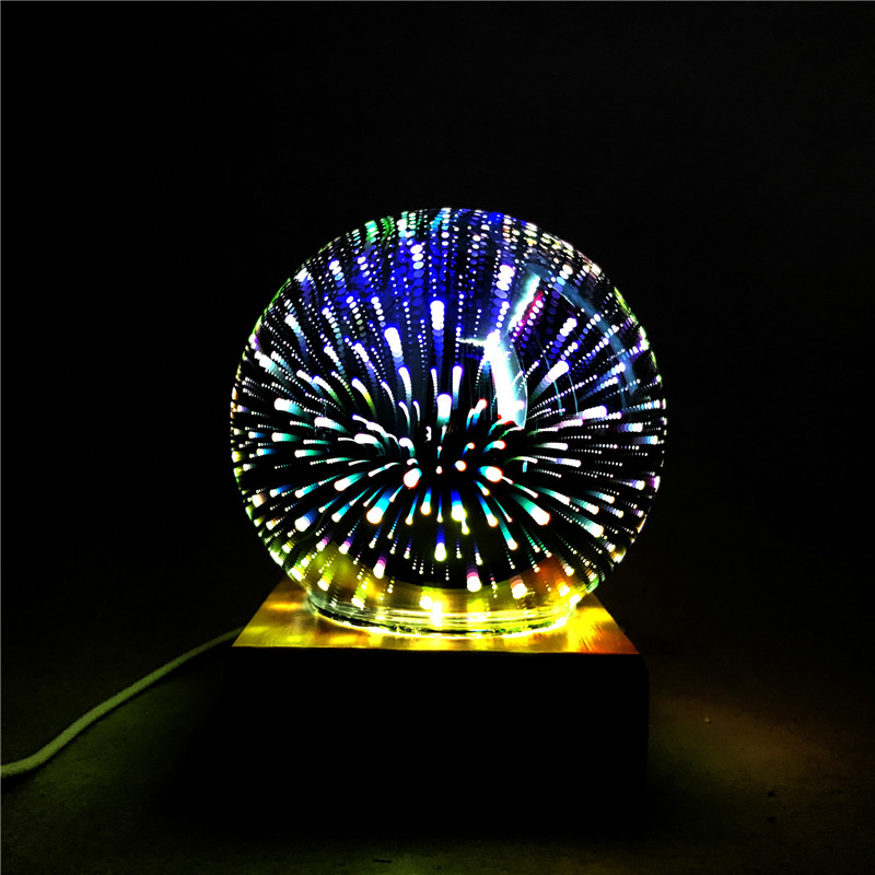 3D Colorful Romatic Night Light Magic Crystal Glass LED Lamp Creative Table Lamp for Home Decor Bedroom Atmosphere Desk Light novelty 3d minions night light led table lamp touch desk lighting colorful for child baby gift birthday party bedroom home decor