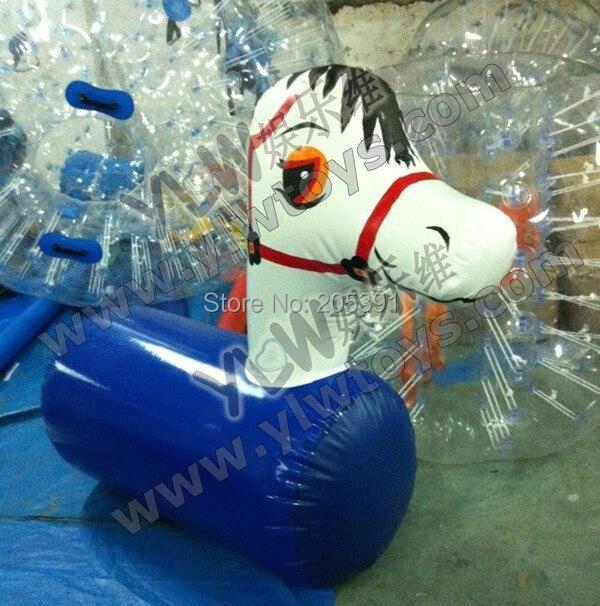 Cheval de houblon gonflable de grande taille, saut/cheval de poney serré à l'air gonflable, sports gonflables de jouet, jouets concurrentiels de sport de partie de noël