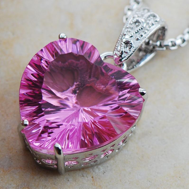 ᗐHuge Concave Cut Pink ჱ Crystal Crystal Zircon 925 ...