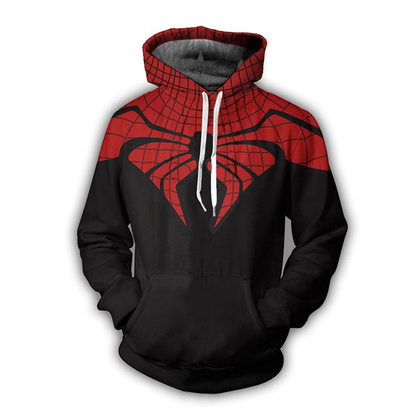 Superhero The Avengers Hoodie Pullover Spiderman Captain America Deadpool Spider-man Venom Casual Sweatshirt Hoodies Coat Outfit
