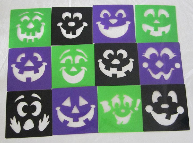 halloween stencil art stencil template art funhalloween craftshalloween toyskids draw toys early education toys in drawing toys from toys hobbies on