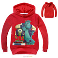 Nueva Llegada al por menor Niño Niños Niñas Sudaderas Con Capucha de Dibujos Animados Dragón Camisetas de Manga Larga Sudaderas Niños ropa de Abrigo para el 3-10y