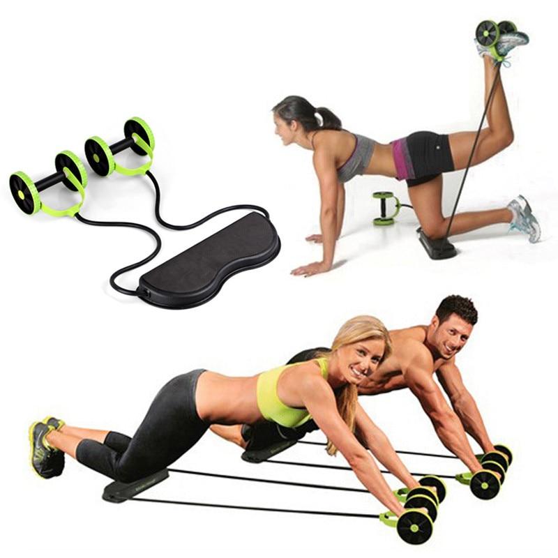MultifunctionAbdominal Bel Zayıflama Eğitmen Egzersiz Çekirdek Çekme Halat Egzersiz Tekerlek Gym Fitness Egzersiz Ekipmanları p10