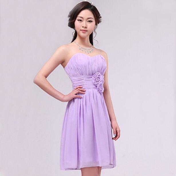 47ba6fa68933 Chiffon di lunghezza del ginocchio damigella d onore elegante vestito da  partito della ragazza per le trecce made lilla abiti occasioni speciali  abiti del ...