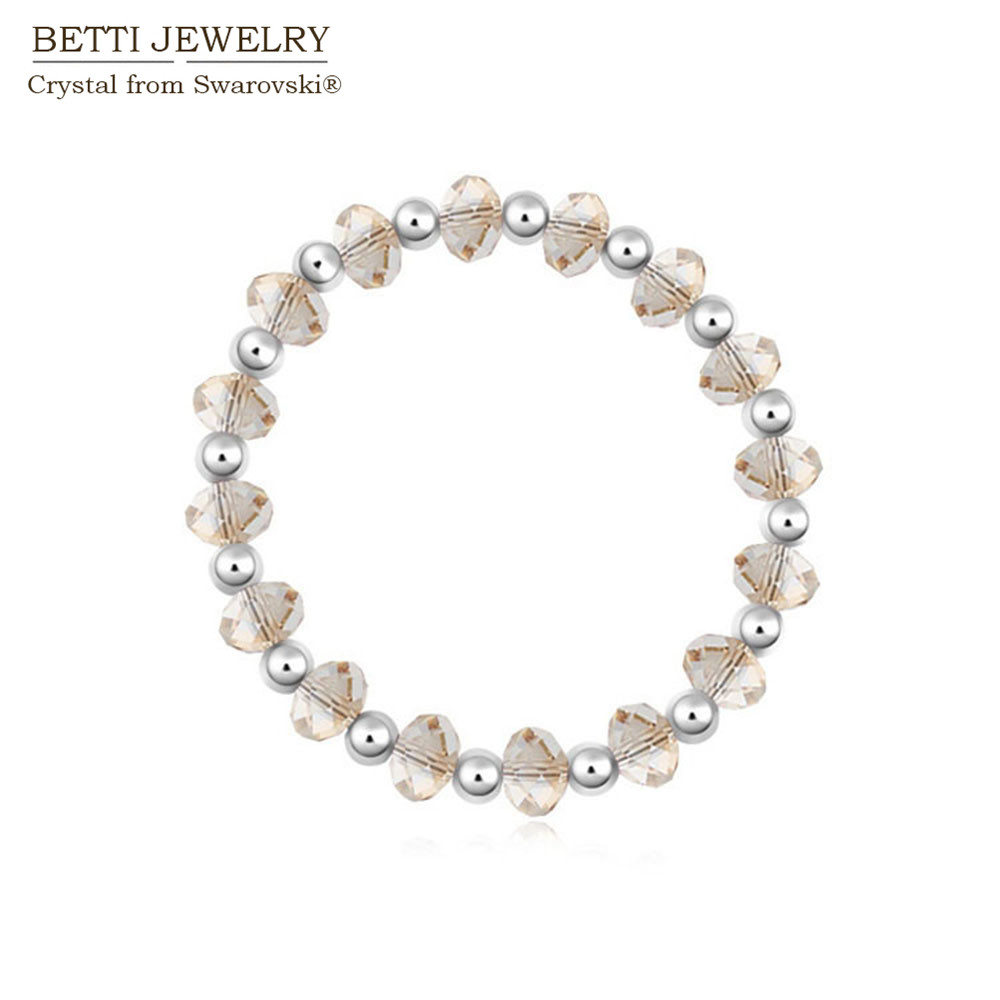2017 New design! Charming Crystal beads bracelet made with swarovski elements for mother's day gift bijoux whoelsale