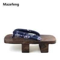 كعب mazefeng المتأرجح الرجال geta بولونيا الرجال قباقيب خشبية النعال منصة الصنادل اليابانية تأثيري أحذية الرجال جيتا السدادات