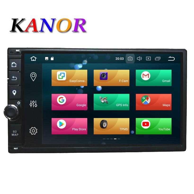 KANOR Octa Core RAM 4G ROM 32G 2 Din Android 8.0 autoradio navigation gps Pour Hyundai Elantra Sonata Tucson santa Fe Lavita Getz
