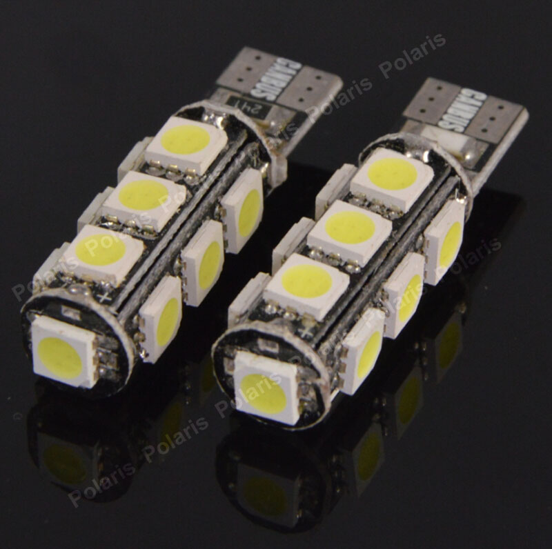 100Pcs Hotsale T10 13 SMD LED 5050 Canbus Error Free Interior Light 168 194 W5W No