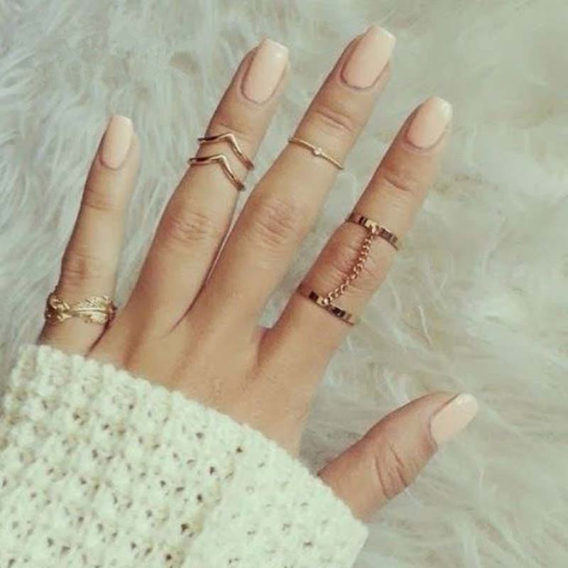 6pcs/set 2016 New Cheap Design Fashion Unique style Gold Stacking ...