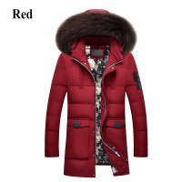 Men Brand Winter Jacket Men High Quality Men's Long Down Coat Fashion Big Hair Collar Thicker Warmth Hooded Leisure Park Jacket
