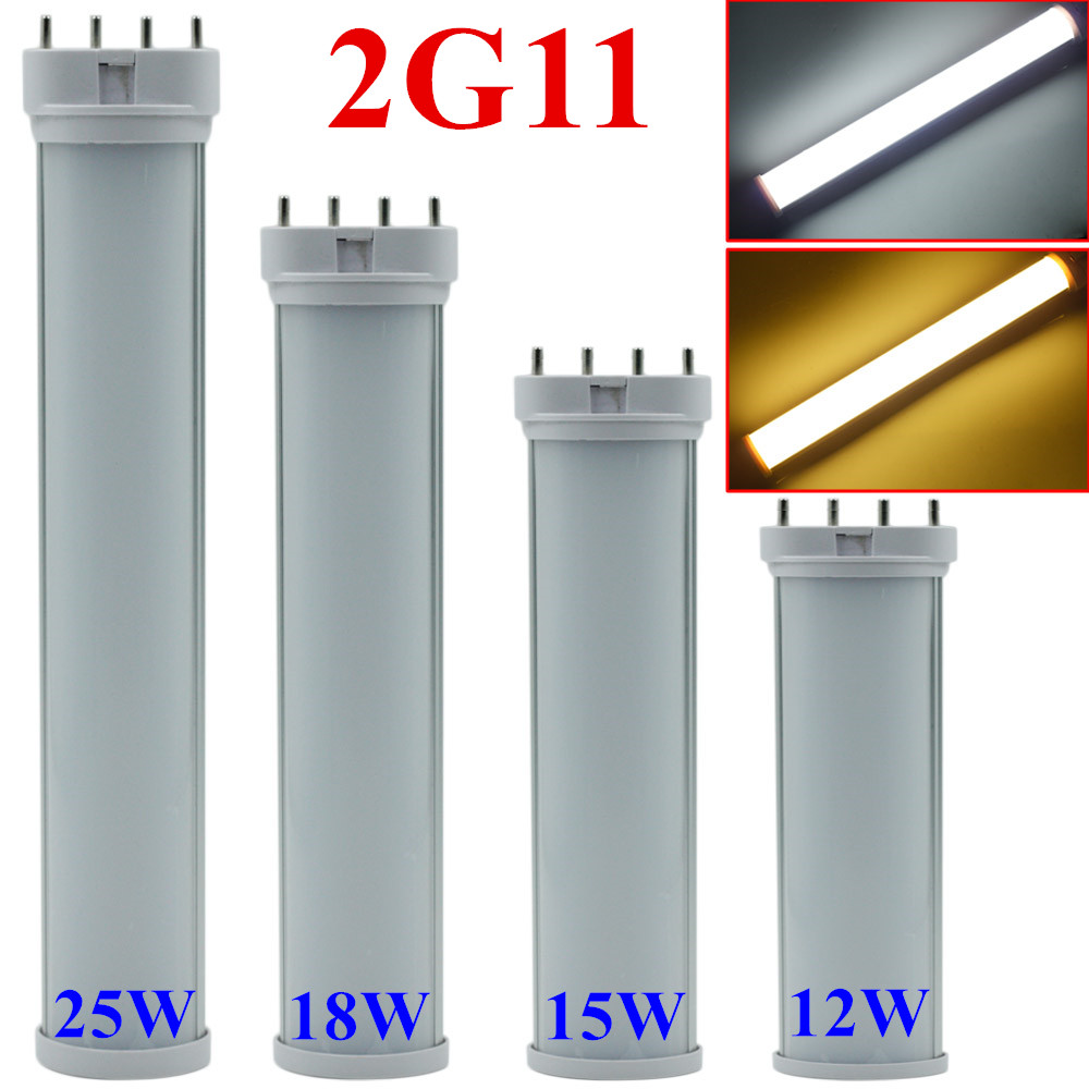 LED Lamp 2G11 LED Tube Light  12w 15w 18w 25w LED Light AC85-265V Epistar SMD CE & ROSH Warm White Cold White kinfire circular 6w 420lm 6500k 30 x smd 3528 led white light ceiling lamp w driver ac 85 265v