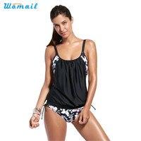 Womail Suit Bikini Women Printing Tankini Bikini Set Push Up Padded Swimsuit Bathing Suit Swimwear 2017