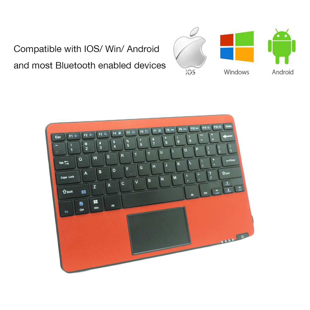 Bluetooth Keyboard For Ipad And Android: Wireless Keyboard With Touchpad Mouse Bluetooth Keyboard Touchpad Gaming With Russian For IPad