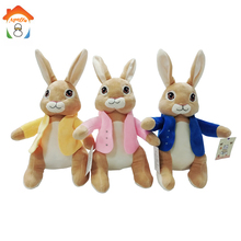 30 CM Lunak Plush Peter Kelinci Mainan Stuffed Animal Bunny Toys Kisah Peter Kelinci Peter Benjamin Lili Kartun Boy Girl Toy