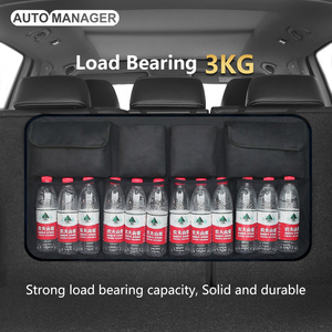 Image 2 - Car Trunk Organizer Backseat Storage Bag High Capacity Adjustable Auto Seat Back Oxford Cloth Organizers Universal Multi use
