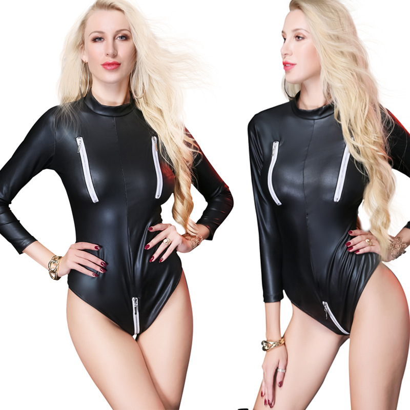 Luggage & Bags Womens Sexy Lingerie Bodysuit Front Zipper Wet Look Body Suit Pvc Leather Leotard Sexy Swimsuit Ds Night Stage Costume Moderate Price