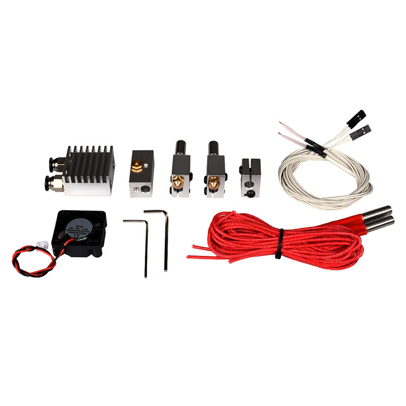 Funssor Multi-Extrusion extruder Kit Cyclops 2 In, 1 Out Switching HotEnd+ volcano block nozzle hot end Kit 3D printer parts cyclops 2 in 1 out switching hotend multi extrusion color 3d extruder 0 5mm nozzle for 1 75mm filament