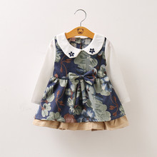 Baby Girl Dress Flower Print Dresses For Girls One Piece Children Clothing Infant Mini Birthday Party Newborn Clothes For Girls