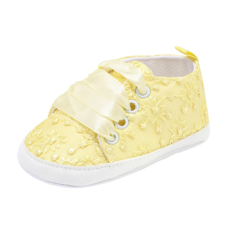 Toddler Shoes Baby Baby-Boy-Girl New 19 Lace Embroidered Solid-Color