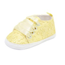 19 New Lace Embroidered Lace-up Shoes Solid Color Baby Toddler Boy  Girl