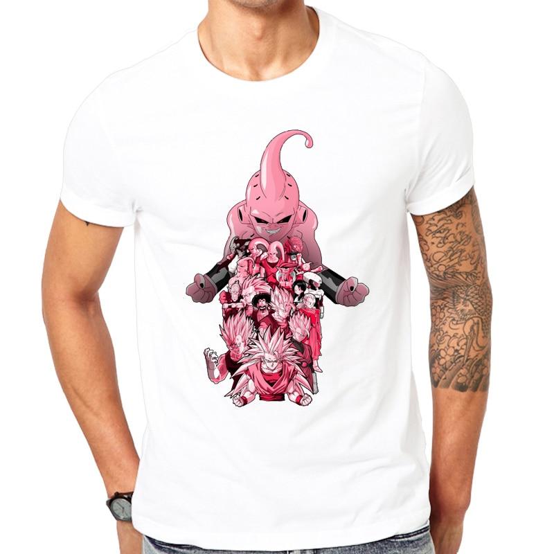 Dragon Ball Z Majin Buu/GOKU T-shirt Cool Men Summer Shirt Brand Fashion T-shirt Funny Miss Buu Tee Tops