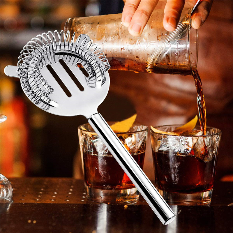 18oz Stainless8Pcs Steel Cocktail Shaker Bar Set Tools with Martini Mixer Double Measuring Jigger Professional Bar Accessories in Bar Sets from Home Garden