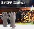 Бесплатная Доставка промышленного и домашнего использования высокой температуры устойчивые рабочие перчатки теплоизоляция перчатки сварочные перчатки