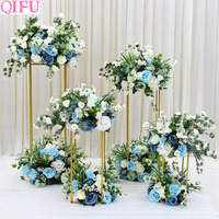 QIFU Indoor Garden Metal Plant Stand Wedding Decoration Flowers Vase Column Stand Event Party Decor Wedding Centerpieces Rack