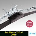 "Wiper blades for Nissan X-Trail (From 2001 onwards) 24""+16"" fit standard J hook wiper arms only HY-002"