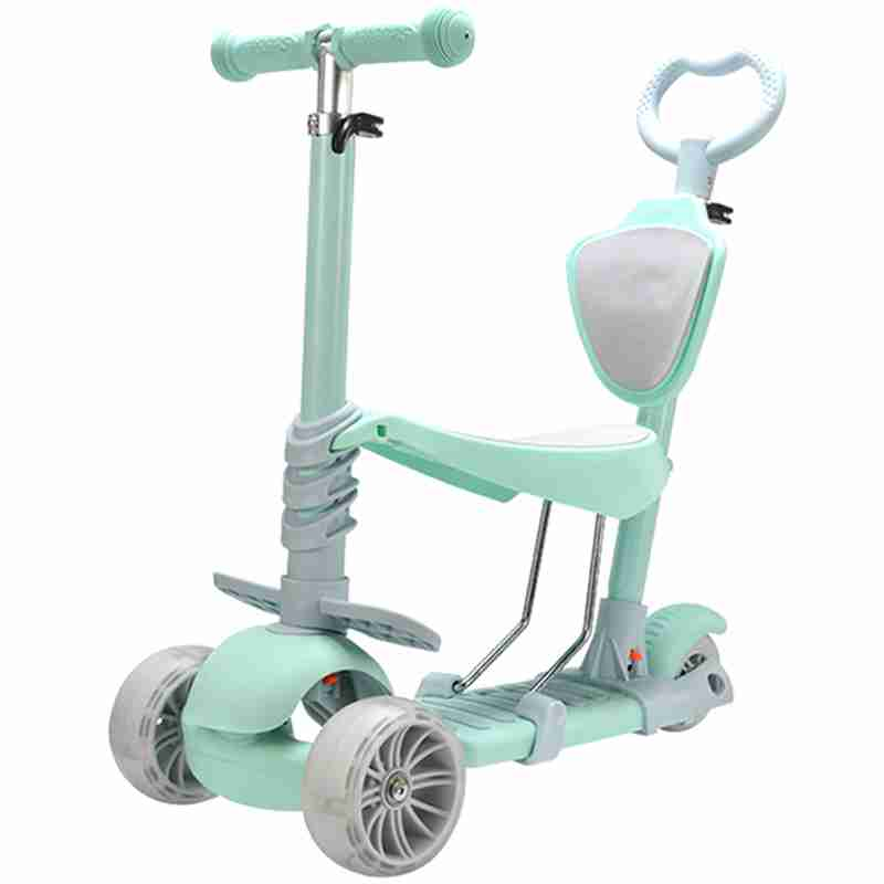 5 In 1 Double Mode Scooter With Three Wheels For Children Outdoor Sport Ride Bike Vehicle Multi-Mode Balance Ride On Car Toy peppa s car ride
