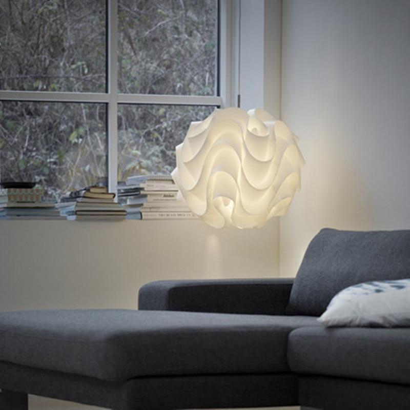 Buy modern pendant light white wave ball for Kit suspension luminaire