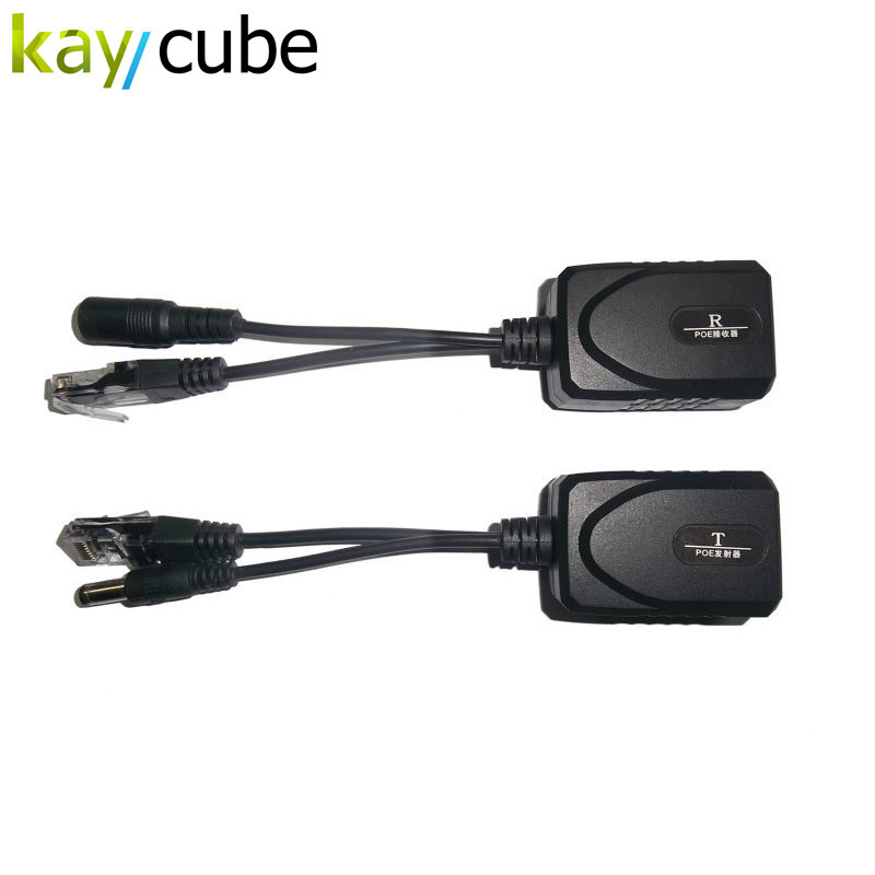 5 Pair DC24-36V Input POE Power Transmitter + Power Transmission Up To 100 Meters DC Male Female IP Camera RJ45 Network Cable ветровик rein для honda cr v iii 2006 2012 кроссовер на накладной скотч 3м 4 шт