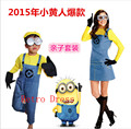 2015 nouveaux enfants Traje de Halloween Anime Mini Despicable Me Minion Trajes Cosplay Trajes de halloween para as mulheres