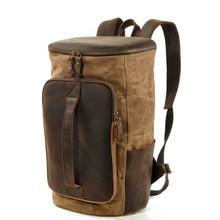 Уличный мужской рюкзак, спортивный рюкзак для путешествий, масло, воск, холст, на плечо, вместительный рюкзак, дорожная сумка