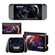 Mass Effect Andromeda Decal Protector Vinyl Skin Sticker for Nintendo Switch NS Console+Controller+Stand Holder Protective Film