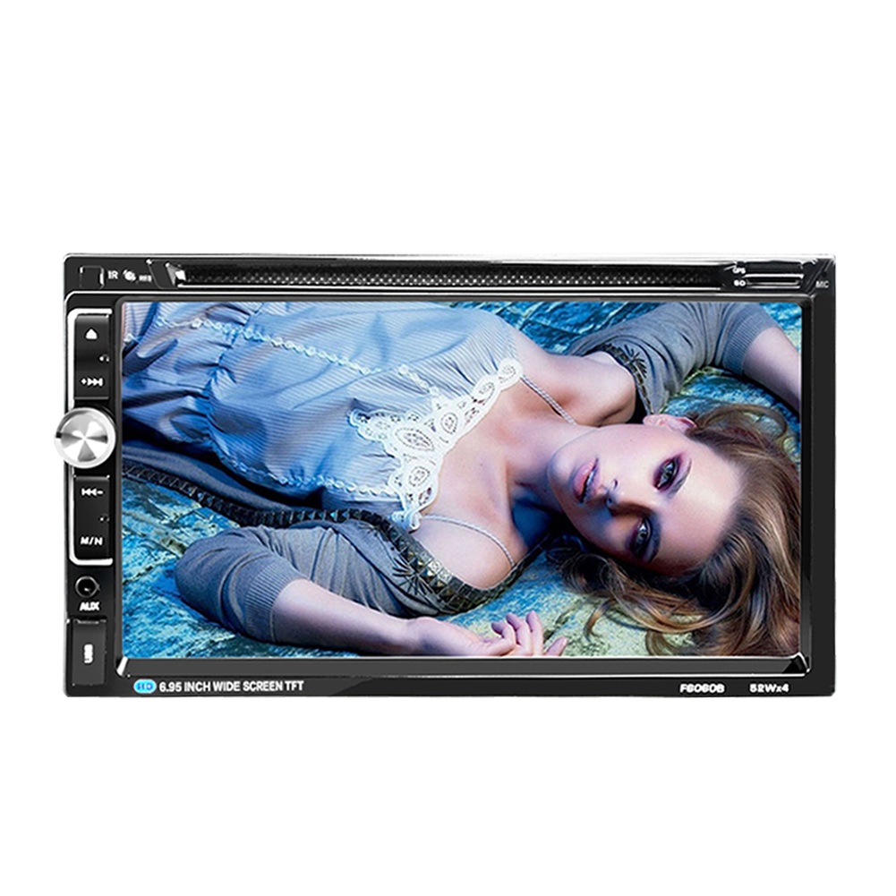 7 Bluetooth Multimedia Player Touch Screen 2Din In Dash Stereo FM Radio Transmitter DVD CD Player Support Rearview Camera Input 7 inch universal 2 din car dvd player in dash player auto mp5 mp4 bluetooth fm radio multimedia rear view camera interface